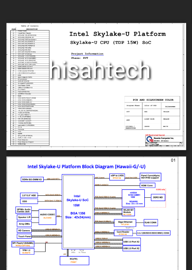 HP 24-G014 all in one DA0N91MB6DO REV D SCHEMATIC