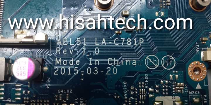 HP 15 AF011UR BL51 LA-C781P REV:1.0 BIOS TESTED OK